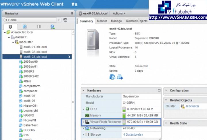 VMware vFlash چیست؟ | Flash Read Cache Resource