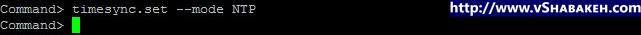 پیکربندی NTP در VMware vCSA | دستور timesync.set –mode NTP