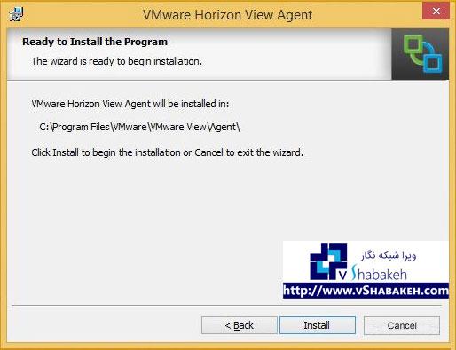 فرایند نصب VMware View Agent