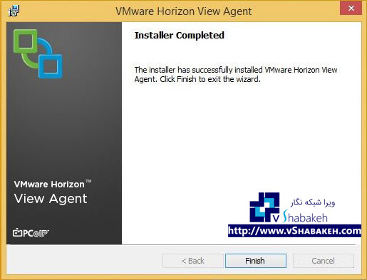 پایان فرایند نصب VMware View Agent