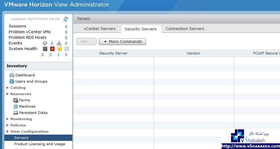 لیست سرور های Security