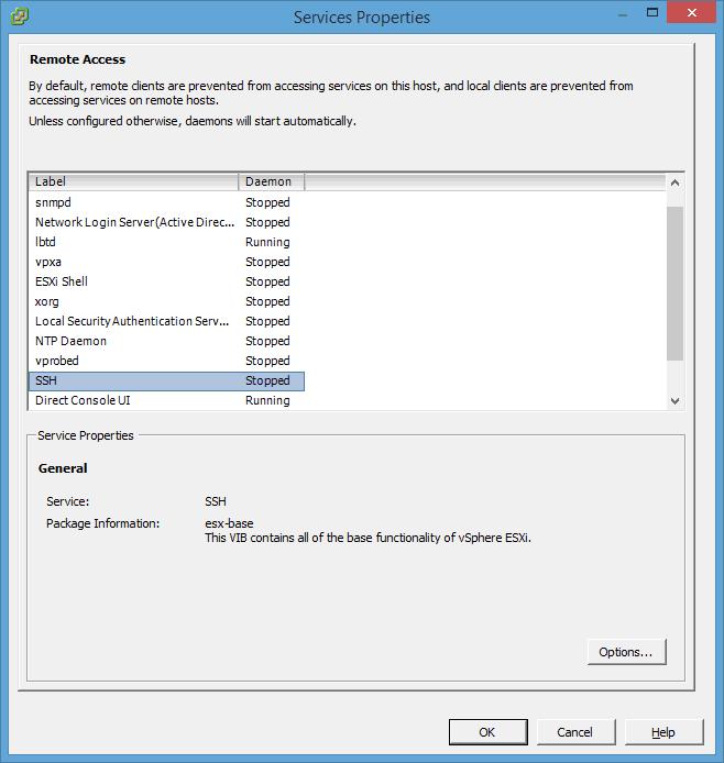 فعال نمودن پروتکل SSH در VMware ESX با استفاده از vSphere Client