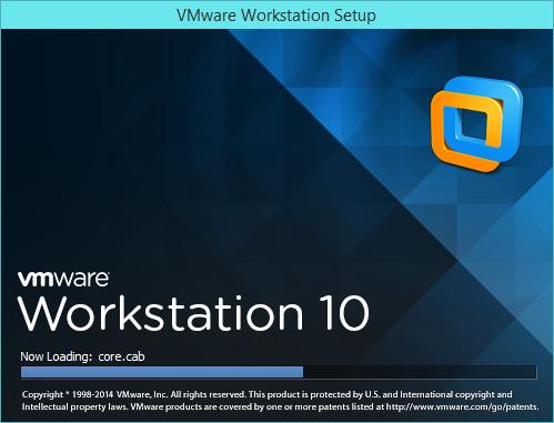 نصب VMware Workstation - پنجره بار گذاری