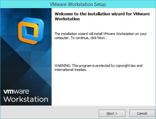 نصب VMware Workstation - پنجره شروع نصب