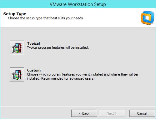 نصب VMware Workstation - انتخاب نوع نصب