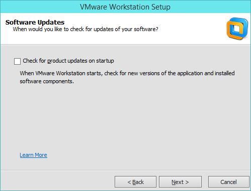 نصب VMware Workstation - بروزرسانی خودکار Workstation