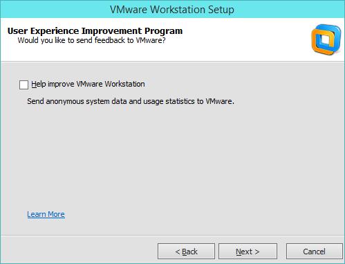 نصب VMware Workstation - ارسال تجربه کاری به شرکت VMware