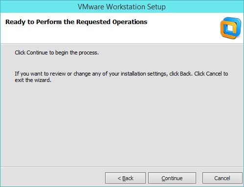 نصب VMware Workstation - پروسه نصب