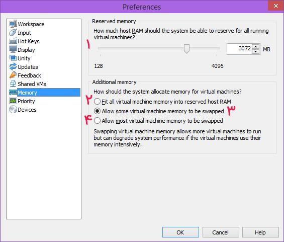 آموزش کار با VMware Workstation (نحوه مدیریت حافظه | Memory)