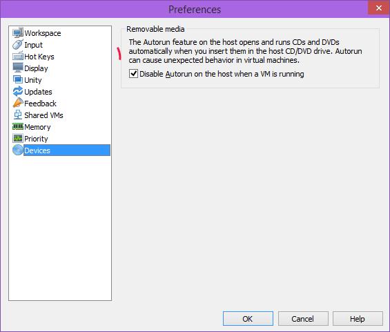 آموزش کار با VMware Workstation (اجرای خودکار | Autorun Devices)