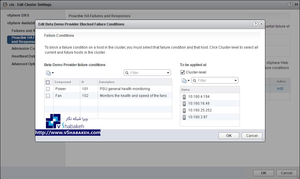 شرایط خطا در Proactive HA