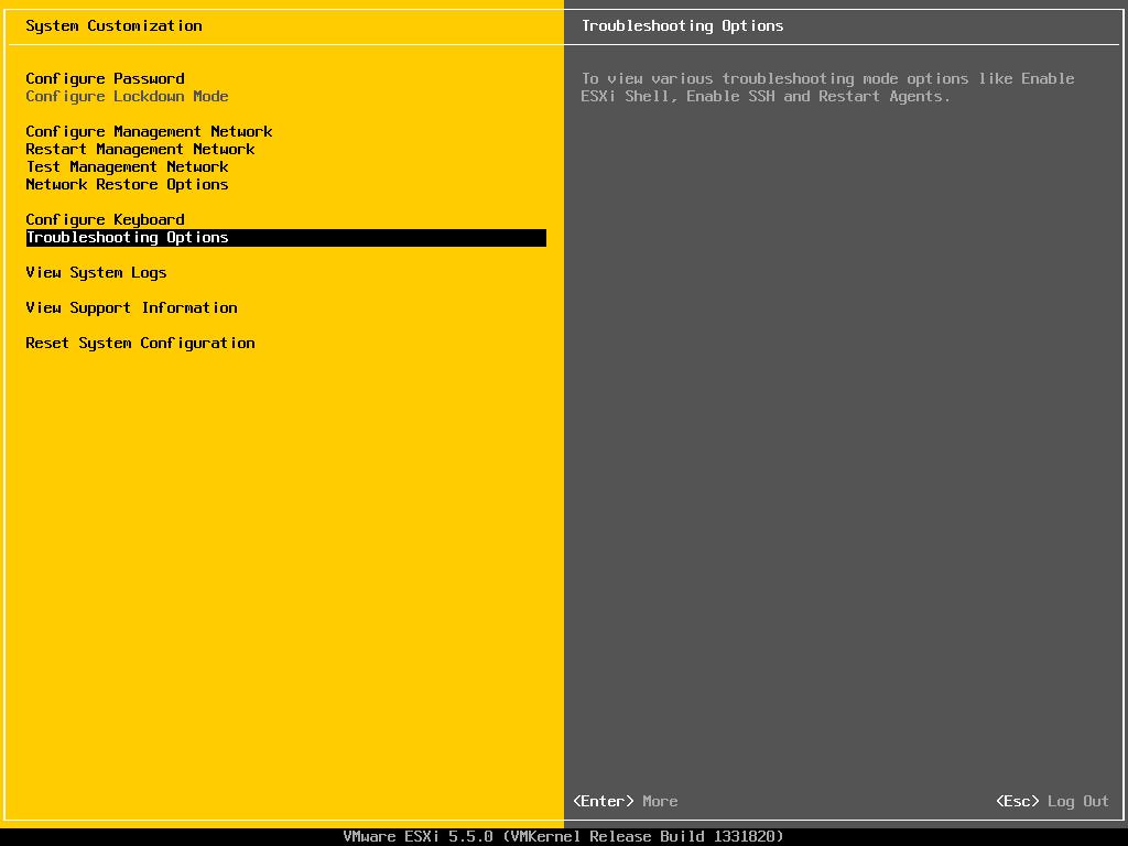 فعال نمودن SSH در VMware ESXi