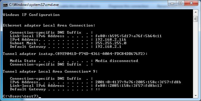 IP آدرس دریافتی ماشین مجازی در مد Bridged