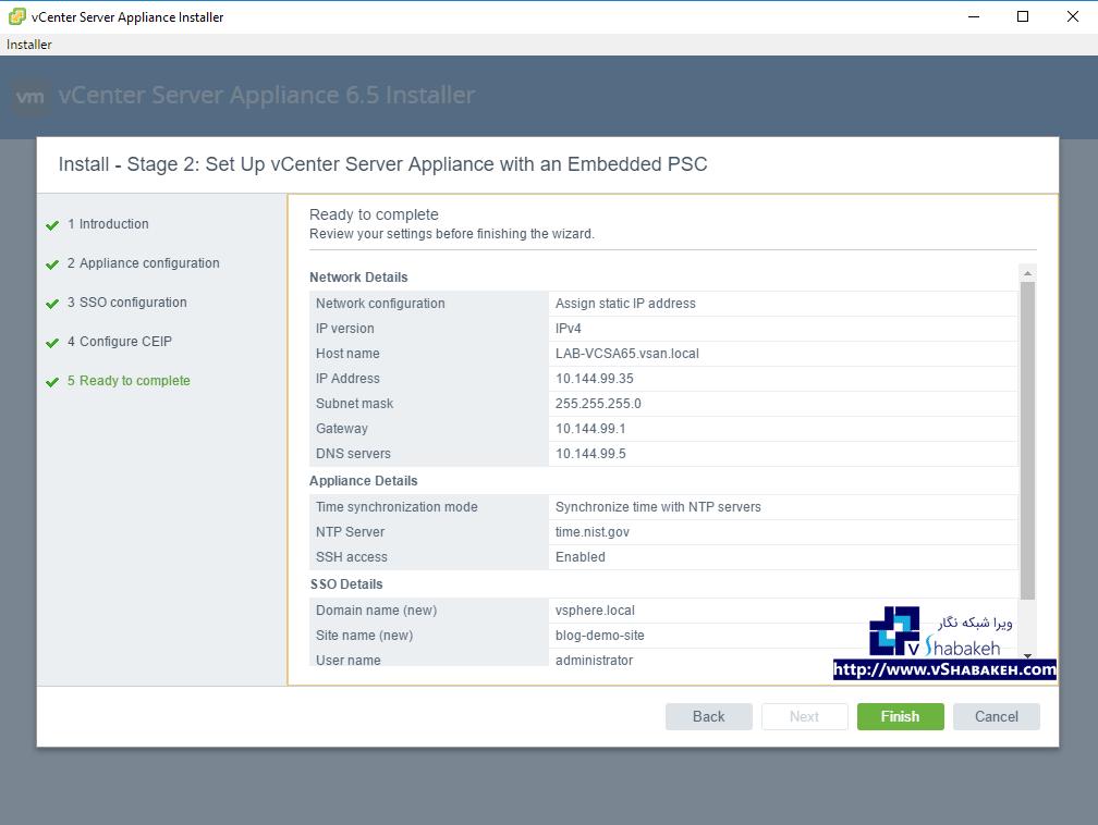 از تنظیم های NTP و DNS اطمینان حاصل کنید